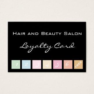 Haar en de Kaart van de Loyaliteit van de Salon Visitekaartjes