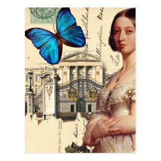 Haar Majesteit Koningin Victoria, met blauwe Briefkaart