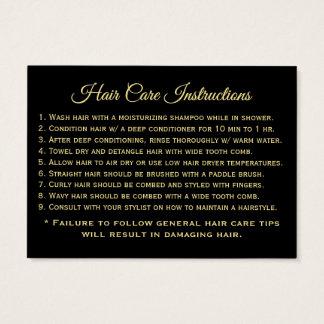 -haar-zorg-instructies visitekaartjes