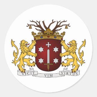 Haarlem wapen, Nederland Ronde Stickers