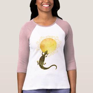 Hagedis die de Zon houden: Dames 3/4 Raglan van T Shirt