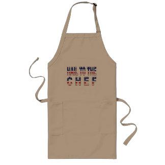 Hagel aan de chef-kok-Grappige het Roosteren Lang Schort
