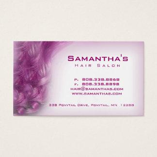 Hair Salon Spa het paarse roze van de Kaart van de Visitekaartjes
