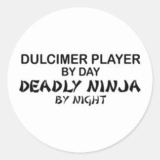 Hakkebord Dodelijke 's nachts Ninja Ronde Sticker