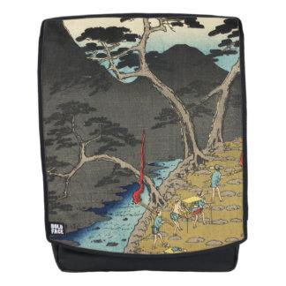 Hakone, Japan: De vintage Druk van de Houtsnede Rugtassen