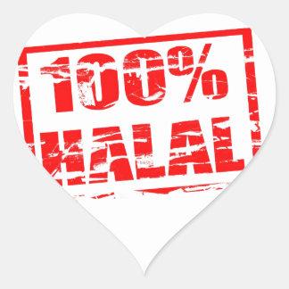 halal 100% hartvormige stickers