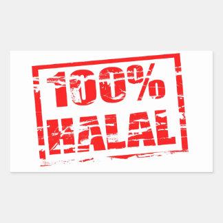 halal 100% rechthoekvormige stickers