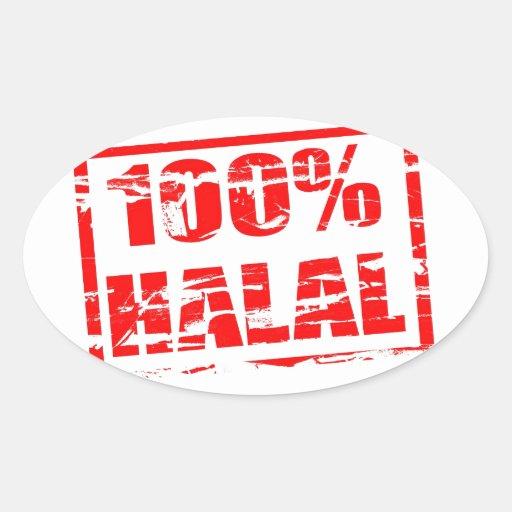 halal 100% ovaalvormige stickers
