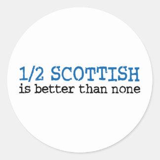Half Schots Ronde Stickers