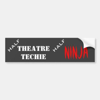Half techie, halve ninja bumpersticker