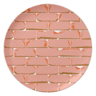 Halftone Bakstenen muur Diner Borden