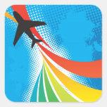 Halftone de Samenvatting van de Reis van de Vakant Vierkant Stickers