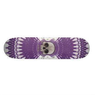 Halftone Schedel & Radiale Grafiek: Skateboard