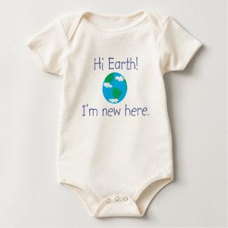 Hallo Aarde! Ik ben hier nieuw Baby Shirt