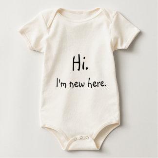 Hallo, ben ik hier nieuw! baby shirt