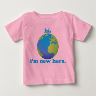 Hallo, ben ik hier Nieuw Baby T Shirts