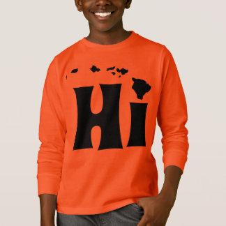 Hallo de hip zwarte van Hawaï T Shirt