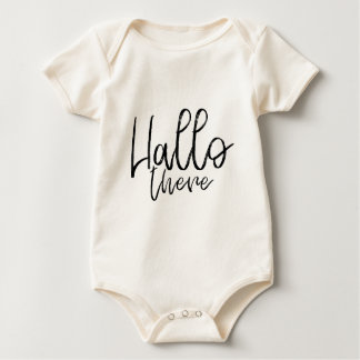 Hallo die daar woorden spreken baby shirt