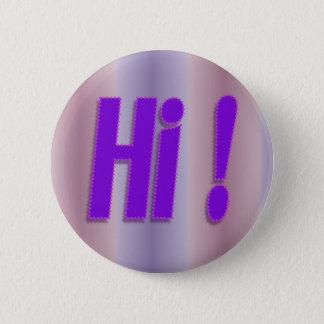 hallo paars ronde button 5,7 cm