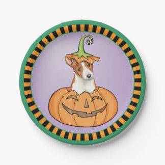 Halloween Basenji Papieren Bordje