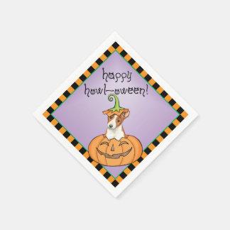 Halloween Basenji Papieren Servetten