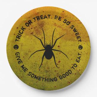 Halloween behandelt of bedriegt de Borden van het Papieren Bordje