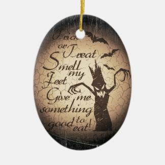 Halloween citaat keramisch ovaal ornament