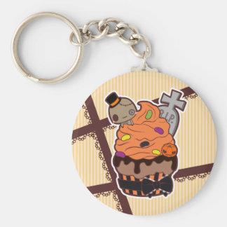 Halloween Cupcake Basic Ronde Button Sleutelhanger