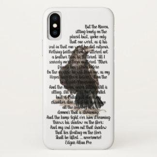 Halloween Edgar Allen Poe Raven Poem iPhone X Hoesje