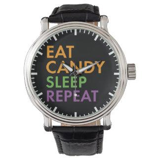 Halloween - eet Snoep, Slaap, herhalen - Horloge