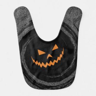 Halloween Gloeiende Jack O'Lantern in een zwarte Baby Slabbetje