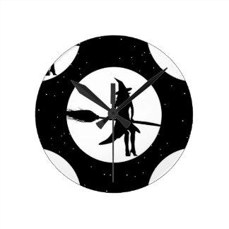 Halloween heks ronde klok