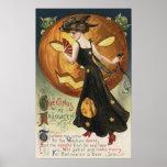 Halloween het Dansen en de Pompoen van GreetingWit Afdruk