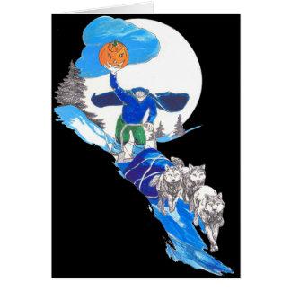 Halloween Musher Zonder hoofd Notecard Notitiekaart