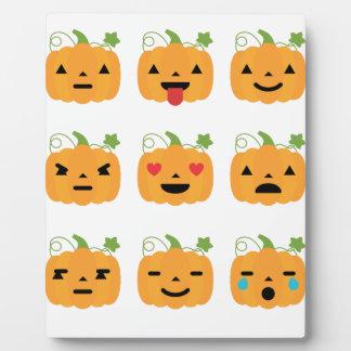 Halloween pompoenemojis fotoplaat