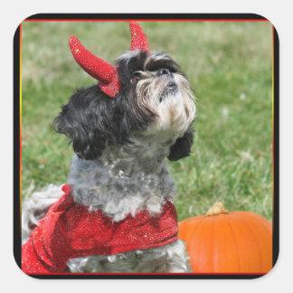 Halloween Shih Tzu Vierkante Sticker