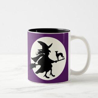 Halloween windhond tweekleurige koffiemok