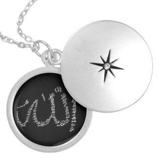 Halsband van Ul Husna van Asma de Zilveren geplate Medaillon