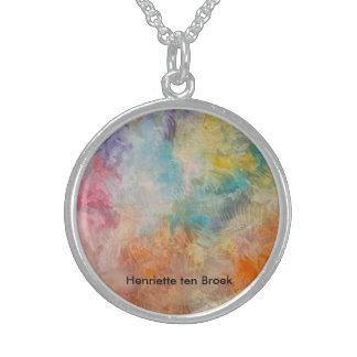 Halsketting met energieke kleuren sterling zilver ketting