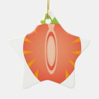 halve aardbei keramisch ster ornament