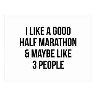 Halve Marathon & 3 Mensen Briefkaart