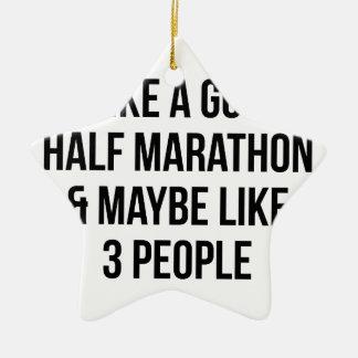 Halve Marathon & 3 Mensen Keramisch Ster Ornament