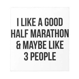 Halve Marathon & 3 Mensen Notitieblok