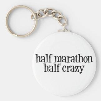 halve marathon, halve gekke keychain sleutelhanger