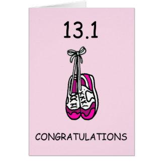 Halve marathondame, gelukwensen briefkaarten 0