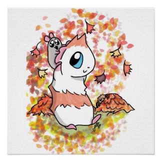 Ham en de herfst Piggy Perfect Poster