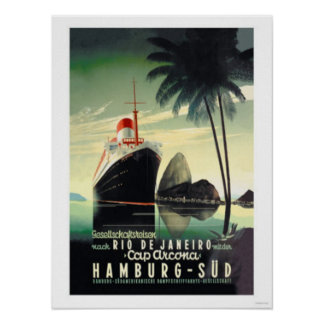 Hamburg aan Rio de Janeiro op het Pet Arcona Poster