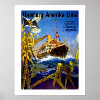 Hamburg Amerika aan Zuid-Amerika Poster