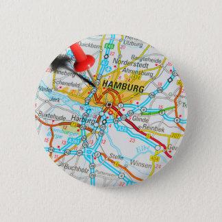Hamburg, Duitsland Ronde Button 5,7 Cm
