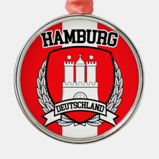 Hamburg Zilverkleurig Rond Ornament